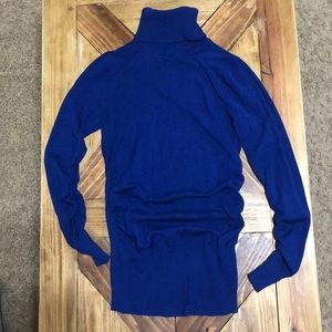 Blue turtleneck from The Limited